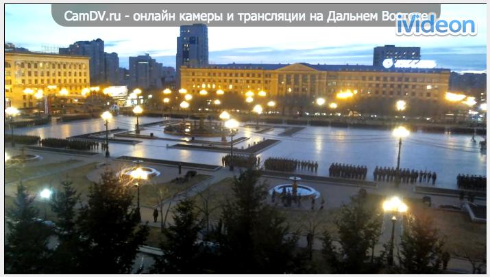 Трансляция репетиций парада Победы в Хабаровске
